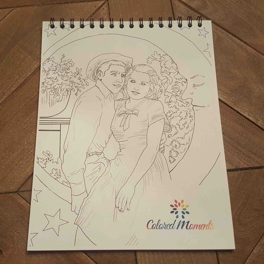 20 Page Custom Coloring Book – Colored Moments