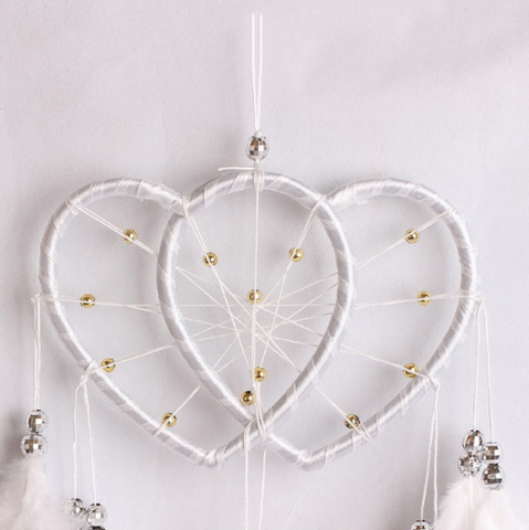 Dream Catcher DOUBLE Heart Hanging Decor