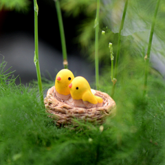 Mini nest with birds miniatures