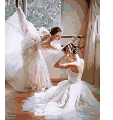 Frameless Picture Painting By Ballet Girl
