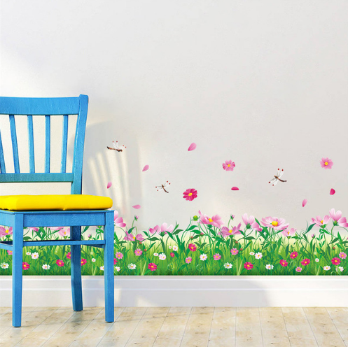 Nature Colorful Flowers Wall Sticker