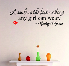 Smile Makeup Marilyn Monroe Wall Stickers