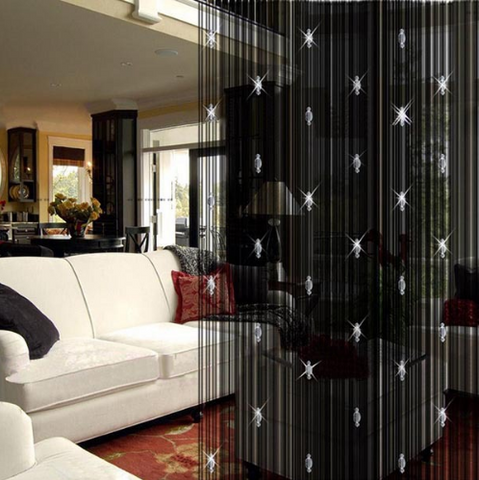 Romantic Decorative String Curtain With 3 Beads