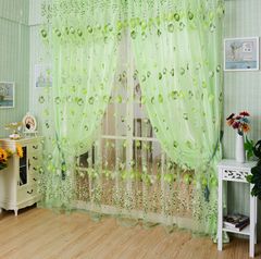 Flower Sheer Voile Curtain