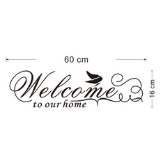 Welcome to Our Home Removable Wall Sticker