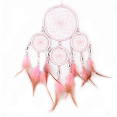 Pink Dream Catcher Feathers Wall Hanging Decoration