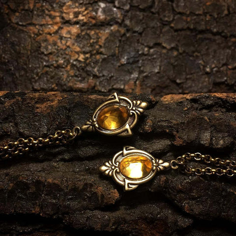 aria gold citrine necklace