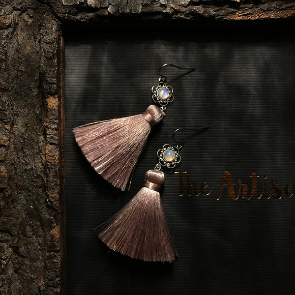 handmade luxury tassel earrings
