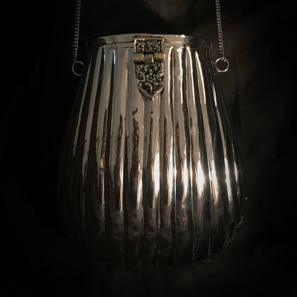statement metal purse