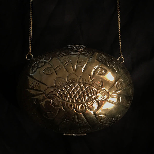 antique metal bag