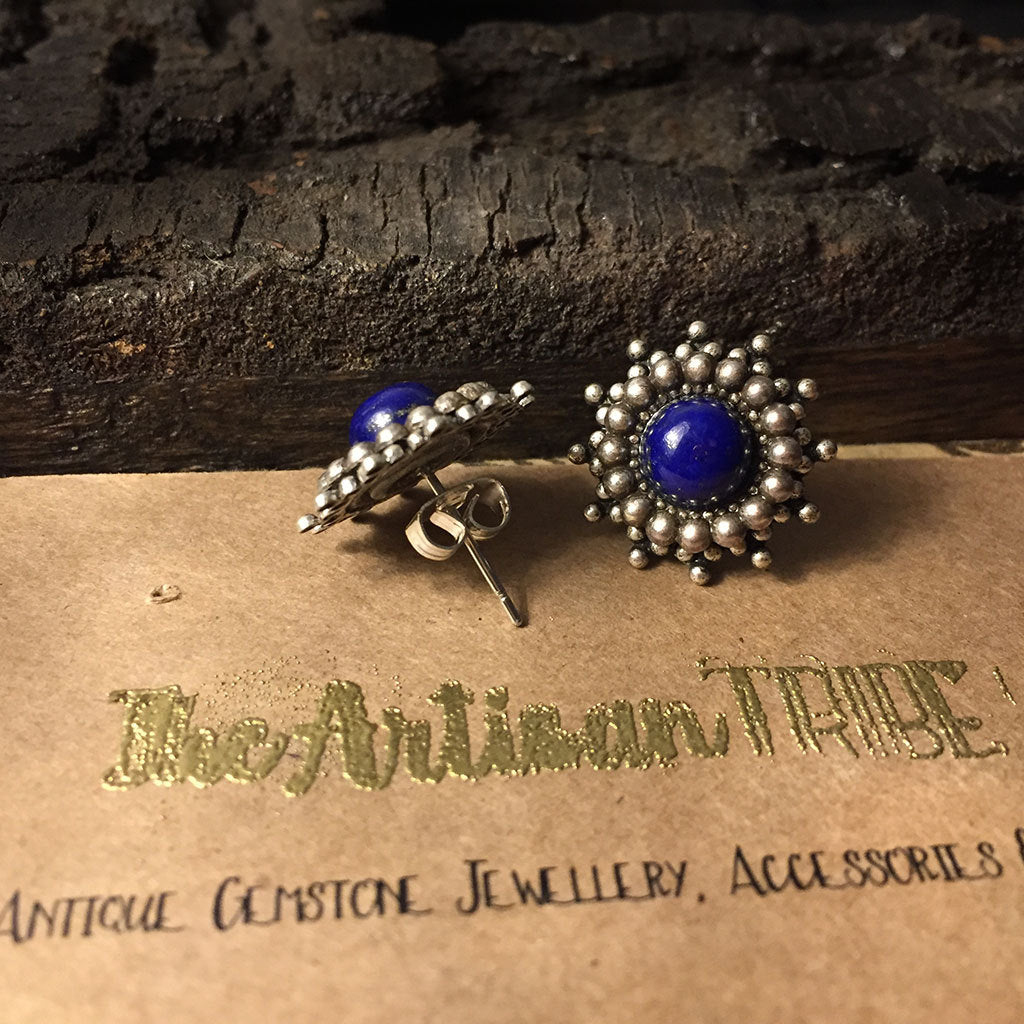 lapis earrings unique stud for women silver buy cute blue