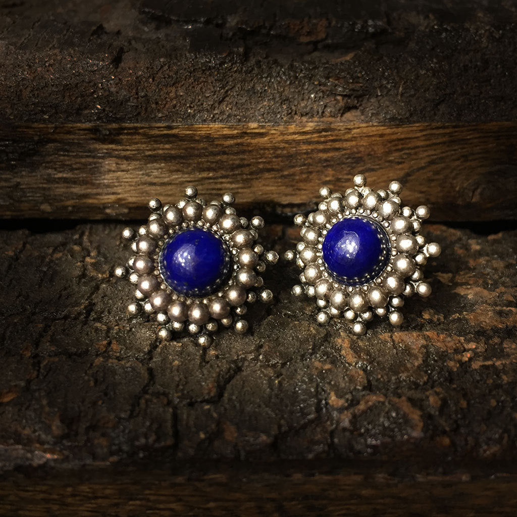 nastaran lapis jewellery earrings silver stud product zivarish and