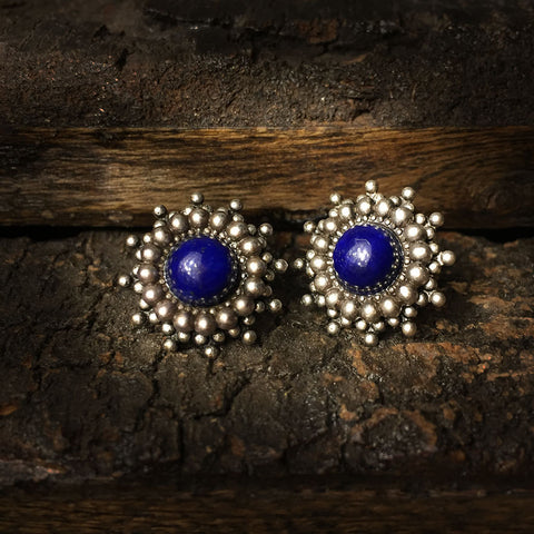 Afina silver lapis lazuli earrings