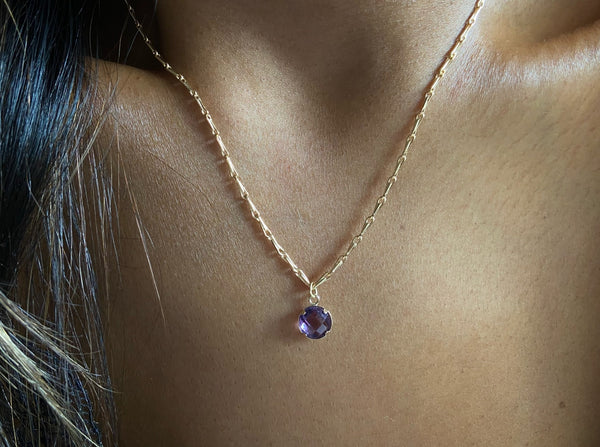 high quality amethyst necklace
