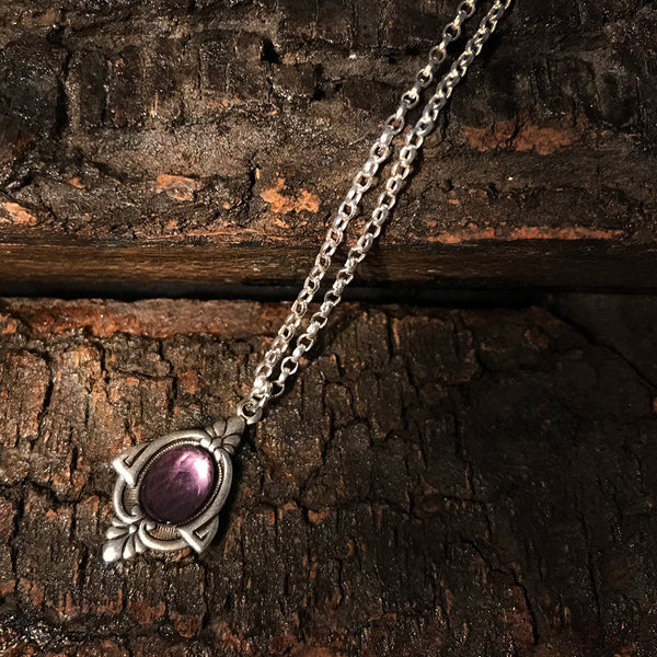 aria amethyst necklace