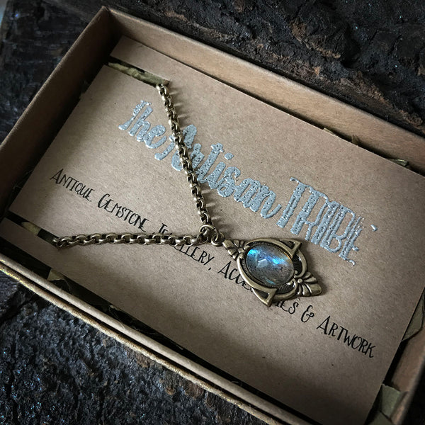 antique labradorite necklace