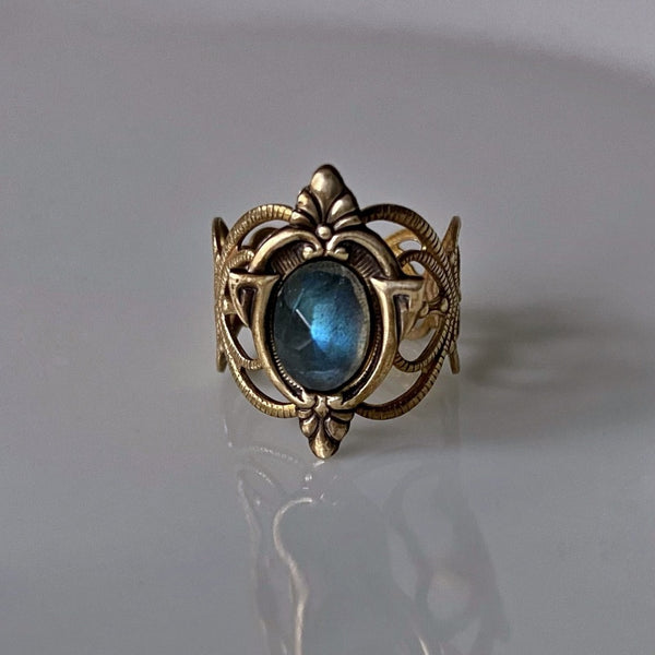 fiery labradorite ring