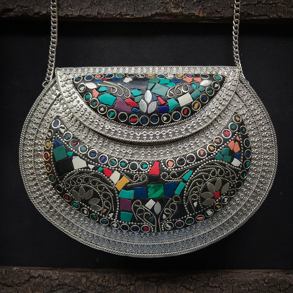 Cera Ethnic Metal Bag