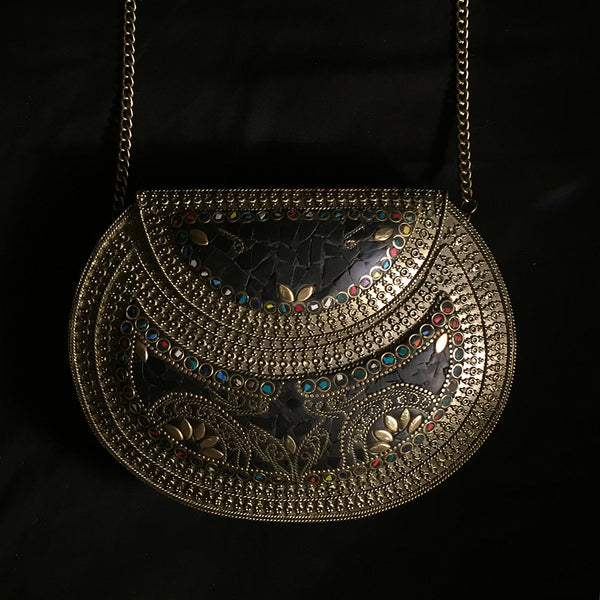 ornate metal statement bag