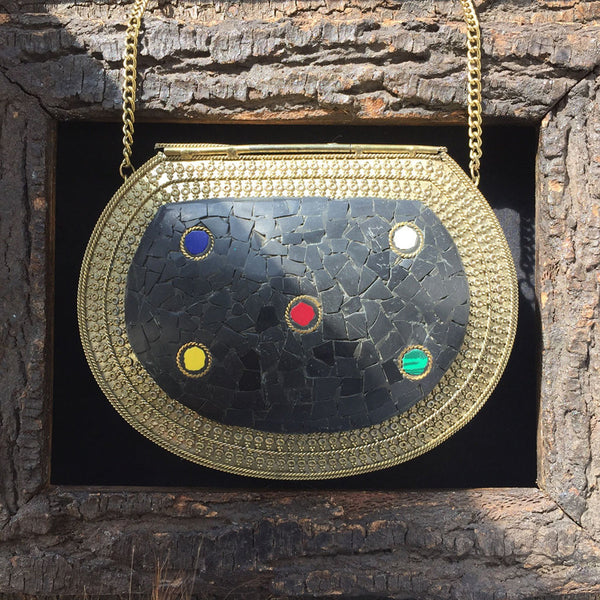 handmade brass metal bag