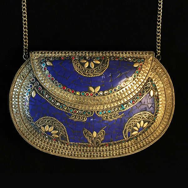 ornate metal clutch for summer