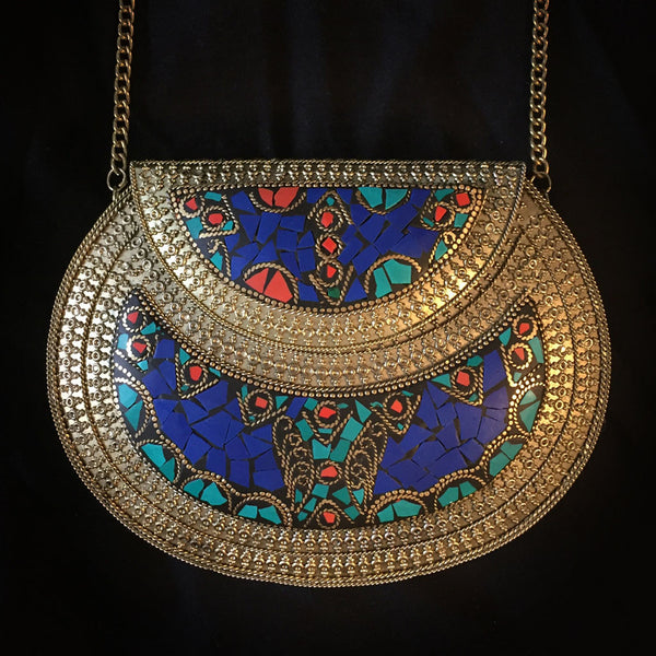 ethnic boho metal bag