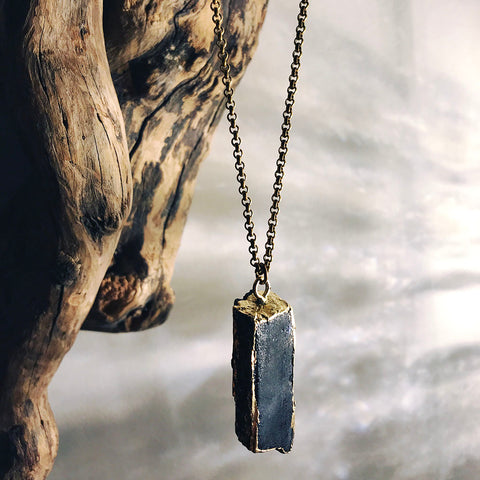 raw tourmaline necklace