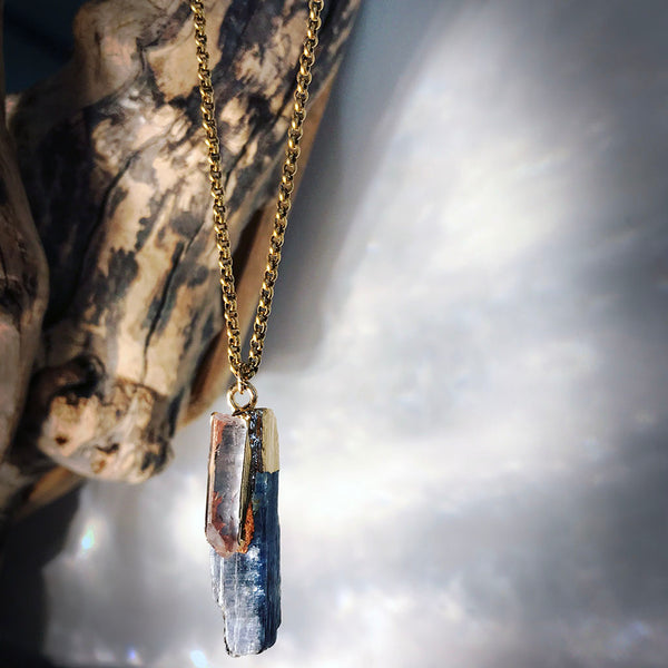 kyanite crystal necklace