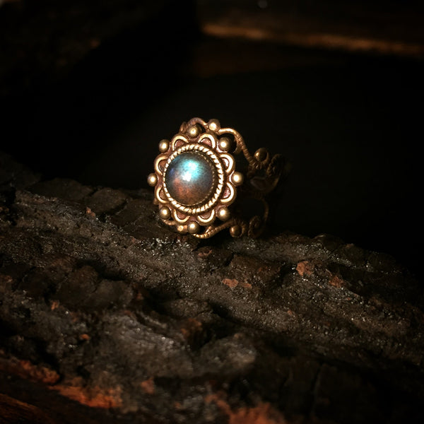 antique labradorite ring