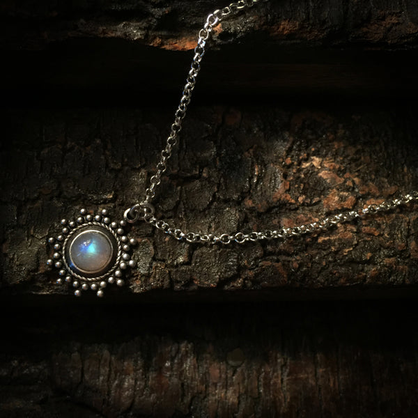 siya silver moonstone necklace