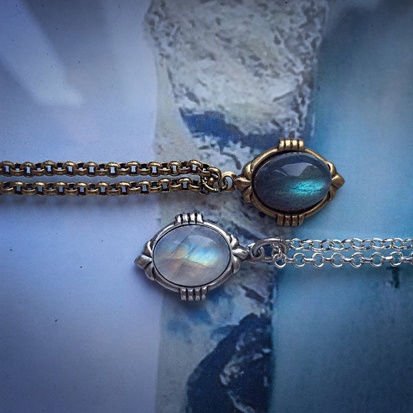 moonstone labradorite necklaces