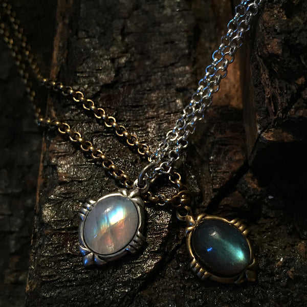 boho moonstone necklace