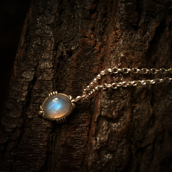 marya silver moonstone necklace
