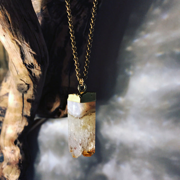natural gold citrine necklace
