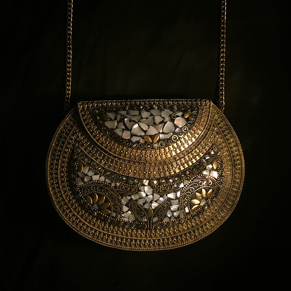 metal mother of pearl bag