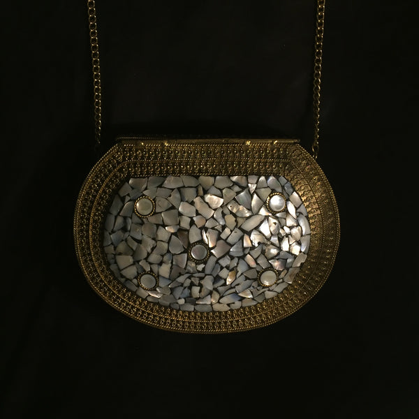 handmade metal clutch