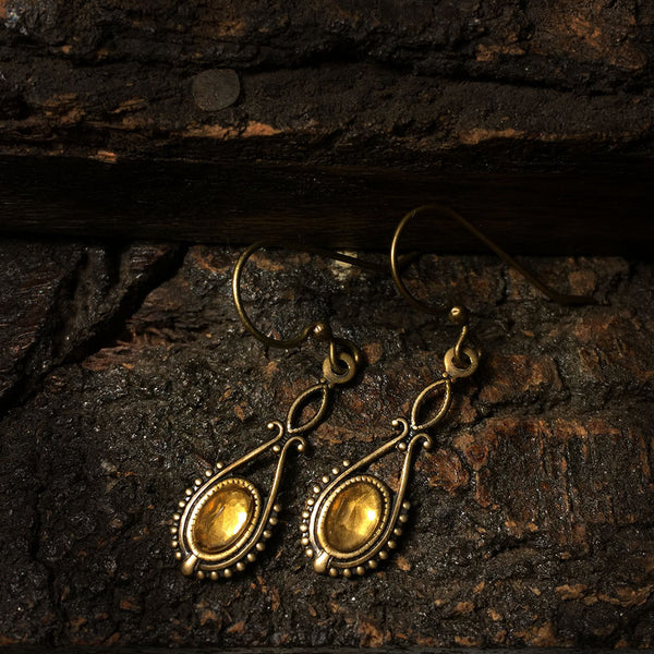 antique citrine earrings