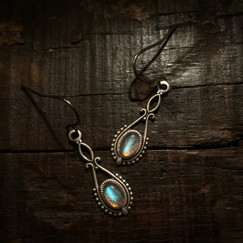 riva silver labradorite earrings