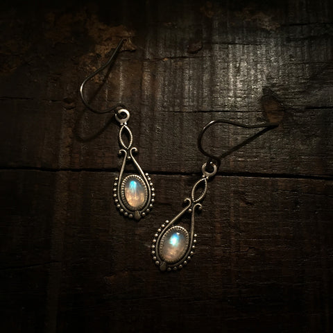 riva silver moonstone earrings