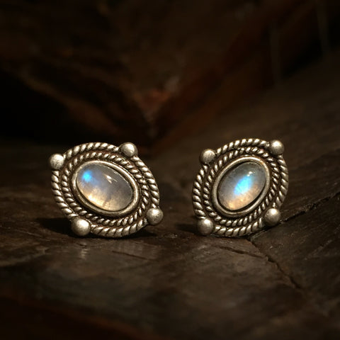 shira silver moonstone earrings