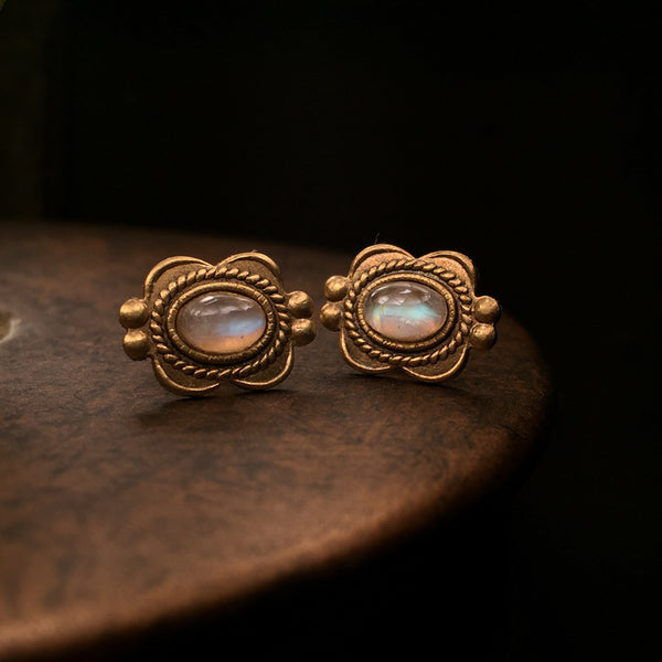 butterfly moonstone earrings