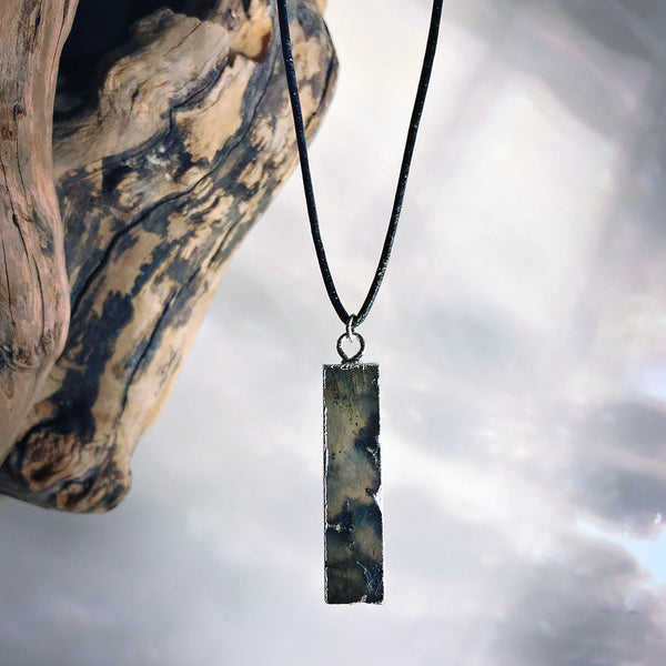 menswear labradorite necklace