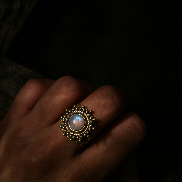 indian moonstone ring