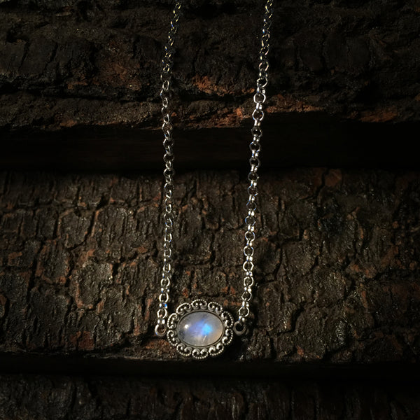 antique moonstone necklace choker
