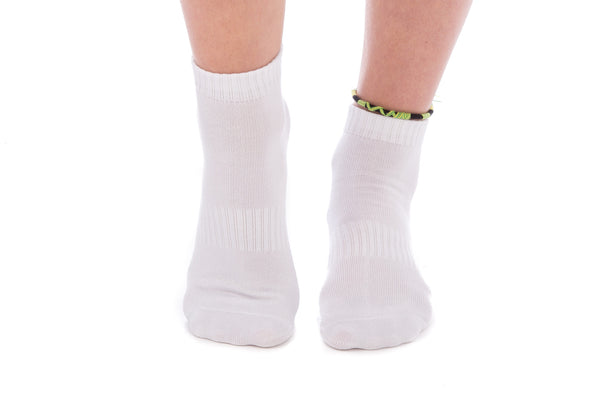 4 PAIRS - White Ankle Socks