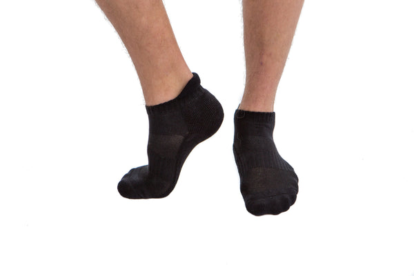 6 PAIRS - Black Athletic Socks