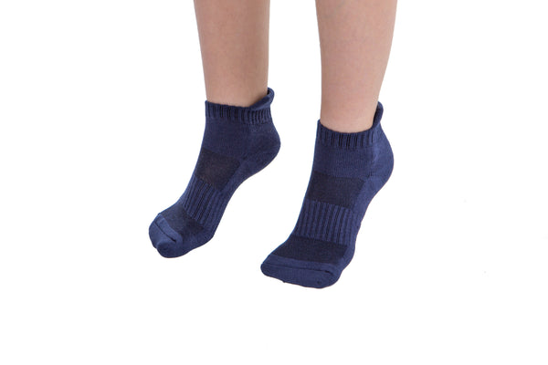 4 PAIRS - Blue Athletic Socks