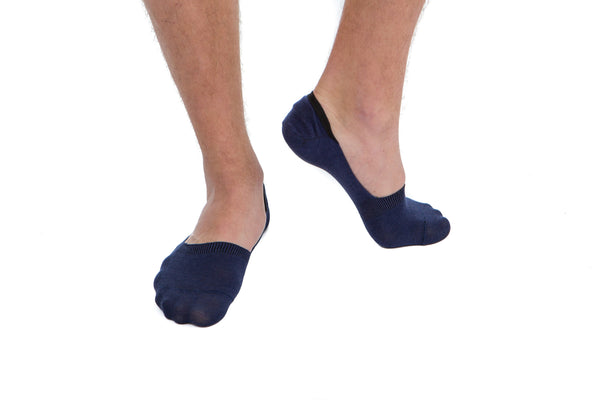 2 PAIRS - Blue Invisible Socks