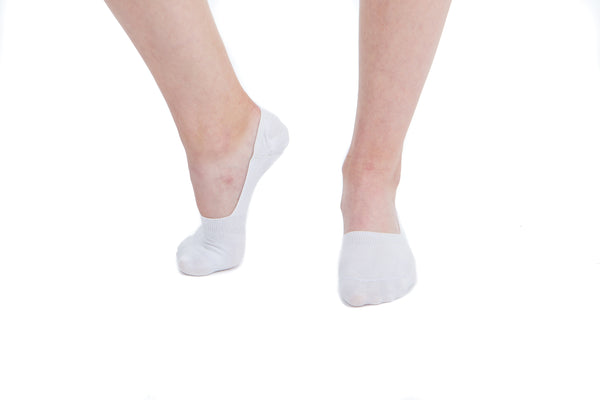 2 PAIRS - White Invisible Socks