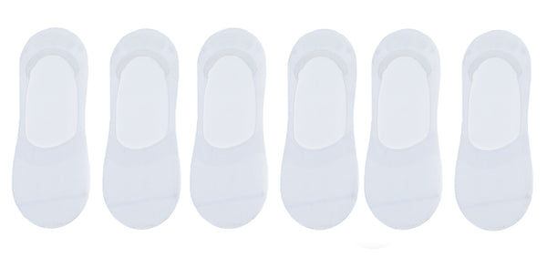 4 PAIRS - White Invisible Socks